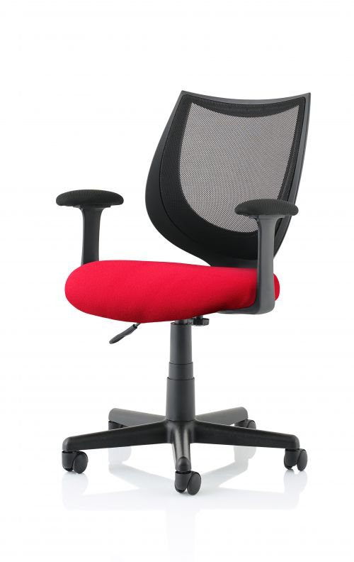 Camden Black Mesh Chair in Bergamot Cherry