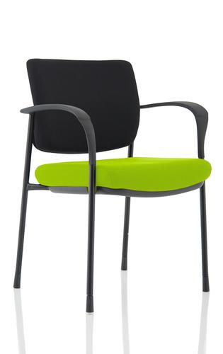 Brunswick Deluxe Black Frame Bespoke Seat Myrrh Green