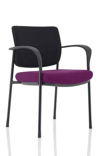 Brunswick Deluxe Black Frame Bespoke Seat Tansy Purple