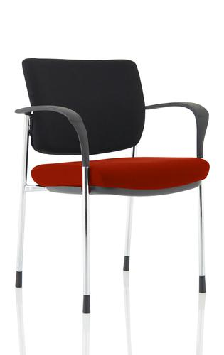 Brunswick Deluxe Chrome Frame Bespoke Seat Ginseng Chilli