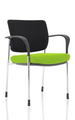 Brunswick Deluxe Chrome Frame Bespoke Seat Myrrh Green