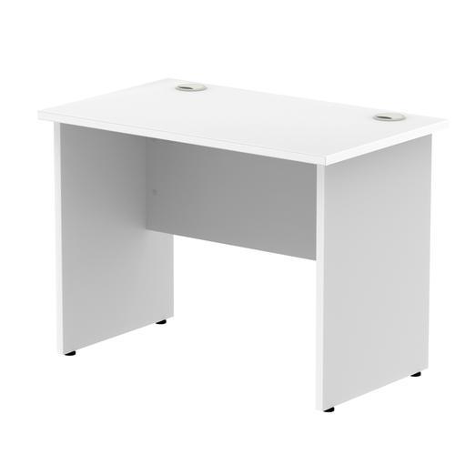 Impulse 1000 x 800mm Straight Desk White Top Panel End Leg MI000392