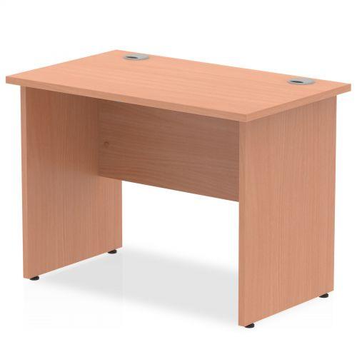 Impulse 1000 x 600mm Straight Desk Beech Top Panel End Leg MI001728