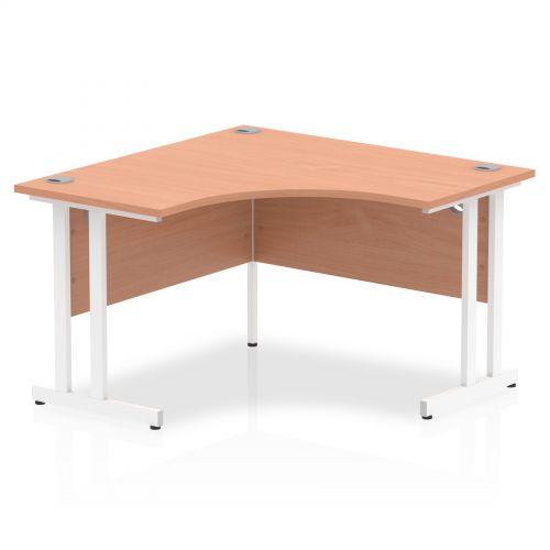 Impulse 1200 Corner Desk White Cantilever Leg Desk Beech