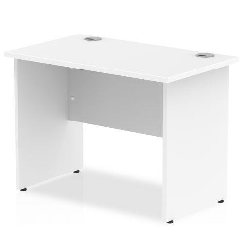 Impulse 1000 x 600mm Straight Desk White Top Panel End Leg MI002245