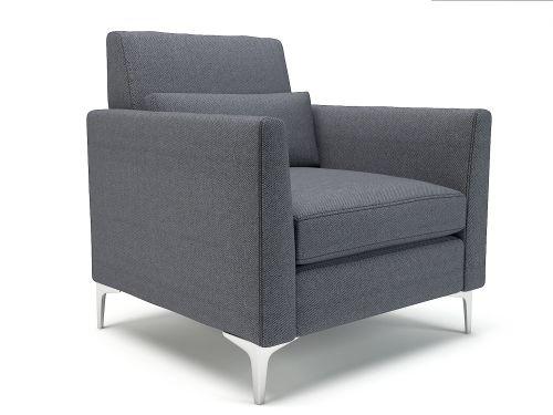 Roselle 90cm Wide Armchair Present Fabric Chrome Feet