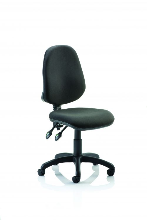 Eclipse II Lever Task Operator Chair Black Without Arms