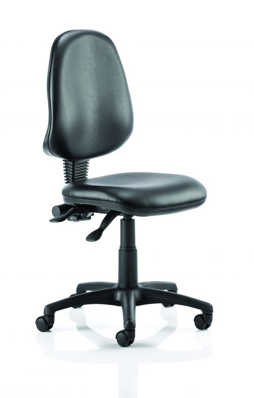 Eclipse Plus II Vinyl Chair Black Without Arms OP000029