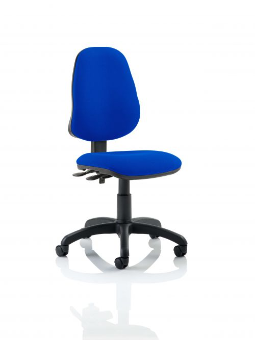 Eclipse III Lever Task Operator Chair Blue Without Arms