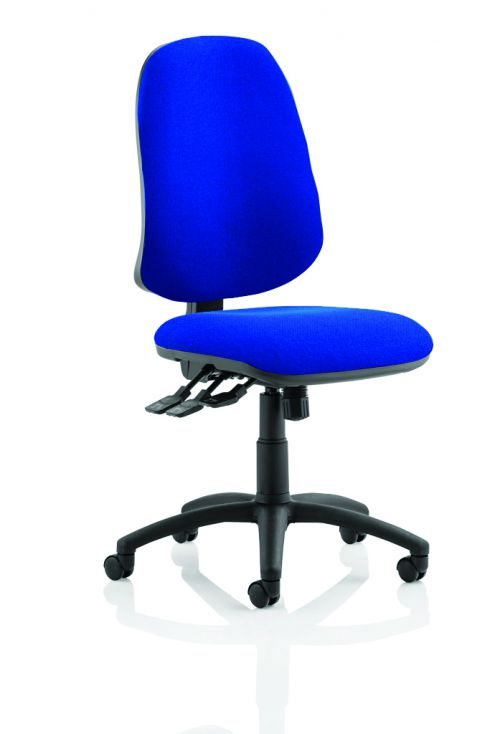 Eclipse XL Lever Task Operator Chair Blue Without Arms
