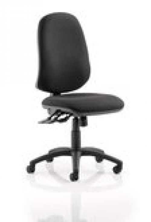 Eclipse XL Lever Task Operator Chair Black Without Arms