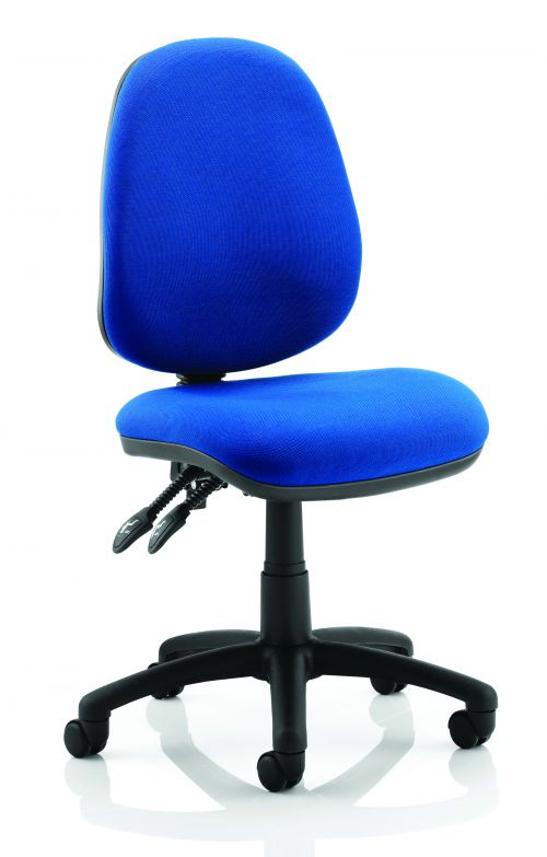 Luna II Lever Task Operator Chair Blue Without Arms