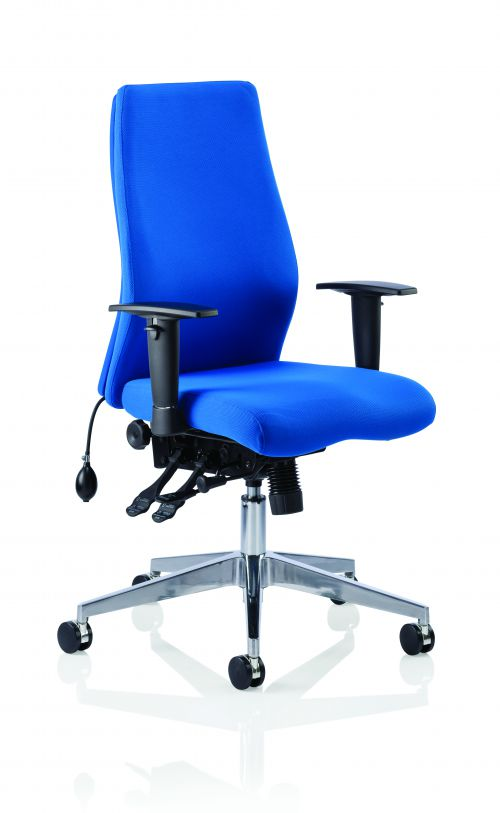 Onyx Blue Fabric Without Headrest With Arms OP000097