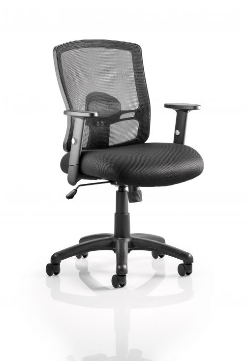 Portlns TASK Chair with Arms-Black OP000105