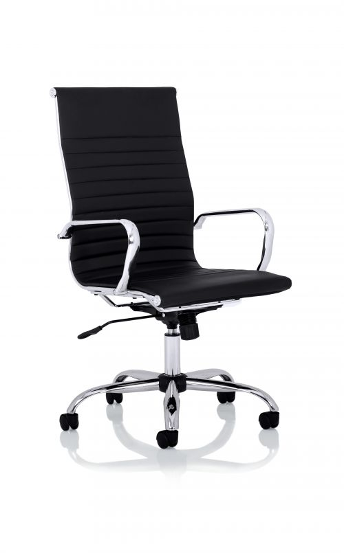 Nola High Back Black Soft Bonded Leather Executive Chair OP000226
