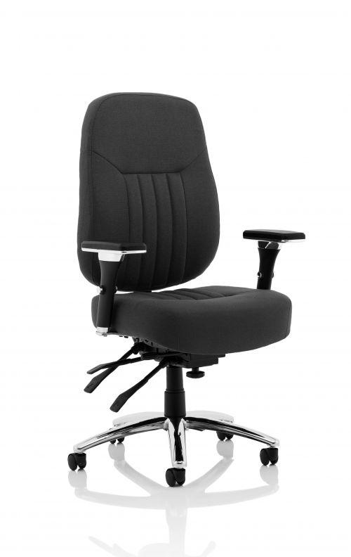 Barcelona Deluxe Black Fabric Operator Chair
