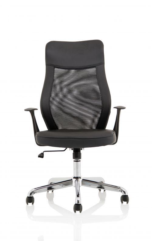 Baye Mesh and PU Operator Chair Black