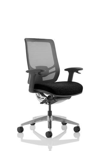 Ergo Click Chair Black Fabric Seat Black Mesh Back OP000250
