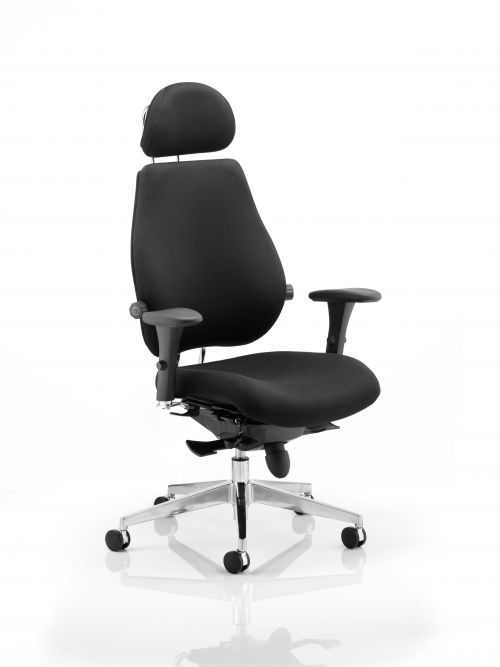Chiro Plus Ultimate Black With Arms With Headrest