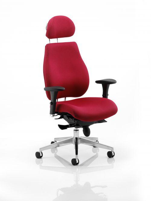 Chiro Plus Chair Wine With Headrest PO000025