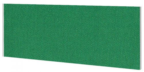 Impulse Plus Oblong 450/600 Desktop Screen Palm Green Fabric Light Grey Edges