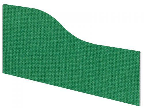 Impulse Plus Wave 450/600 Desktop Screen Palm Green Fabric Light Grey Edges