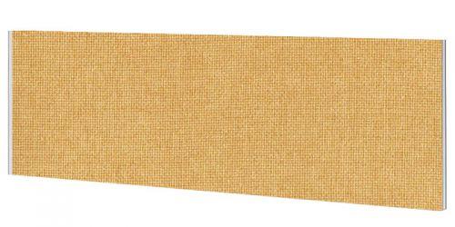 Impulse Plus Oblong 450/1000 Desktop Screen Beige Fabric Light Grey Edges