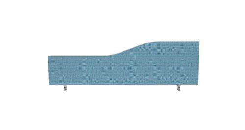 Impulse Plus Wave 450/1200 Desktop Screen Sky Blue Fabric Light Grey Edges
