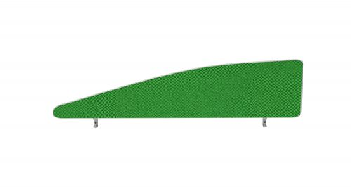 Impulse Plus Angle 450/1400 Desktop Screen Palm Green Fabric Light Grey Edges