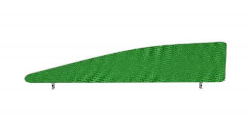 Impulse Plus Angle 450/1600 Desktop Screen Palm Green Fabric Light Grey Edges