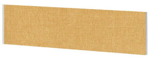Impulse Plus Oblong 450/1800 Desktop Screen Beige Fabric Light Grey Edges