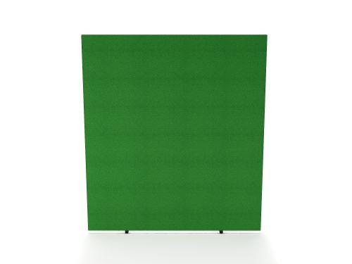 Impulse Plus Oblong 1800/800 Floor Free Standing Screen Palm Green Fabric Light Grey Edges