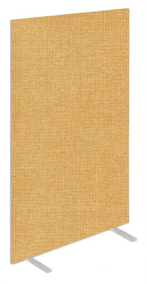 Impulse Plus Oblong 1800/1000 Floor Free Standing Screen Beige Fabric Light Grey Edges