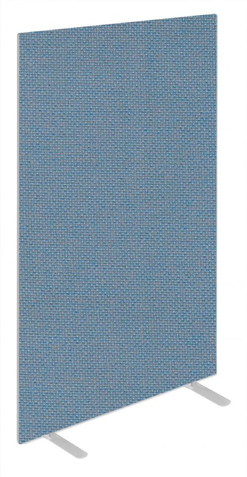 Impulse Plus Oblong 1800/1000 Floor Free Standing Screen Sky Blue Fabric Light Grey Edges