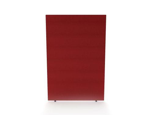 Impulse Plus Oblong 1800/1200 Floor Free Standing Screen Burgundy Fabric Light Grey Edges