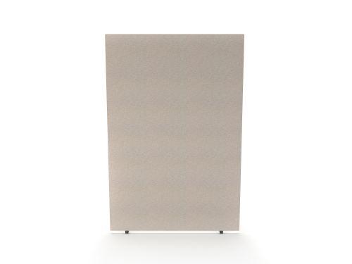 Impulse Plus Oblong 1800/1200 Floor Free Standing Screen Light Grey Fabric Light Grey Edges