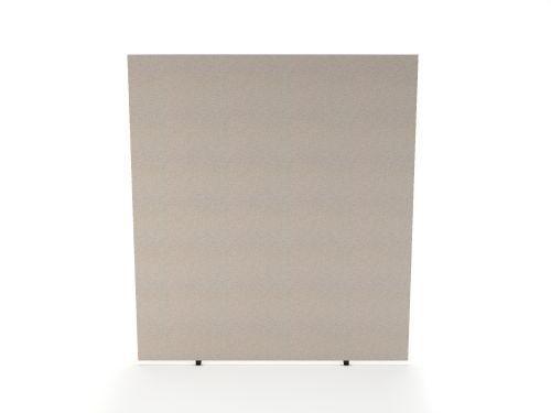 Impulse Plus Oblong 1800/1400 Floor Free Standing Screen Light Grey Fabric Light Grey Edges