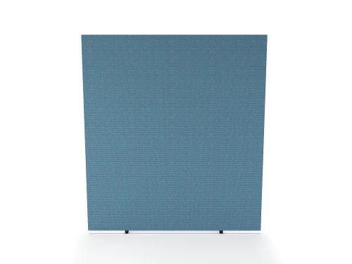 Impulse Plus Oblong 1800/1400 Floor Free Standing Screen Sky Blue Fabric Light Grey Edges