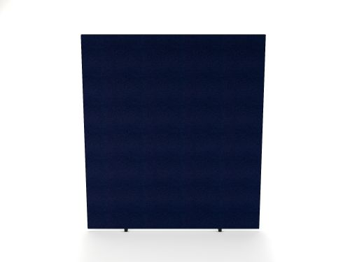 Impulse Plus Oblong 1800/1500 Floor Free Standing Screen Royal Blue Fabric Light Grey Edges