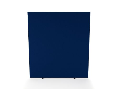 Impulse Plus Oblong 1800/1600 Floor Free Standing Screen Powder Blue Fabric Light Grey Edges