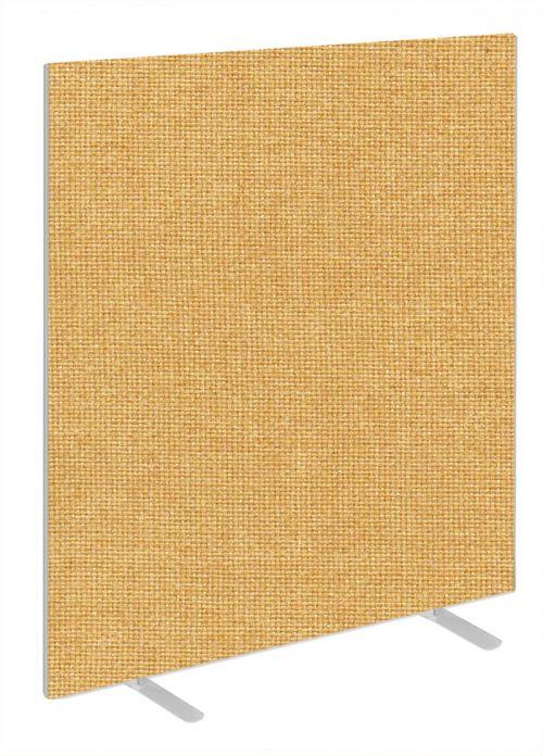 Impulse Plus Oblong 1650/1000 Floor Free Standing Screen Beige Fabric Light Grey Edges