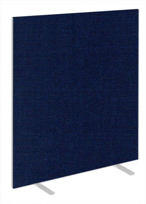 Impulse Plus Oblong 1650/1000 Floor Free Standing Screen Royal Blue Fabric Light Grey Edges