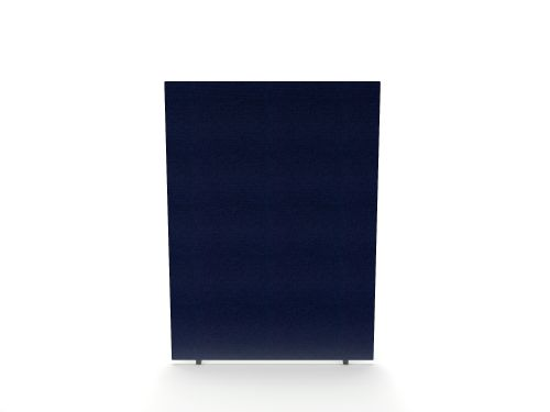 Impulse Plus Oblong 1650/1200 Floor Free Standing Screen Royal Blue Fabric Light Grey Edges