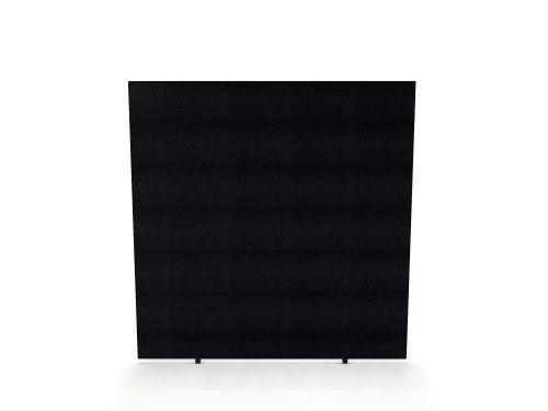 Impulse Plus Oblong 1650/1400 Floor Free Standing Screen Black Fabric Light Grey Edges