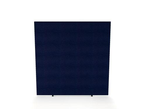 Impulse Plus Oblong 1650/1400 Floor Free Standing Screen Royal Blue Fabric Light Grey Edges