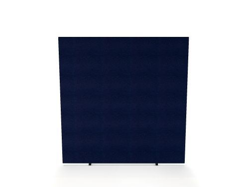 Impulse Plus Oblong 1650/1500 Floor Free Standing Screen Royal Blue Fabric Light Grey Edges