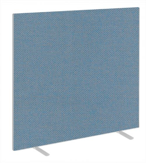 Impulse Plus Oblong 1650/1500 Floor Free Standing Screen Sky Blue Fabric Light Grey Edges