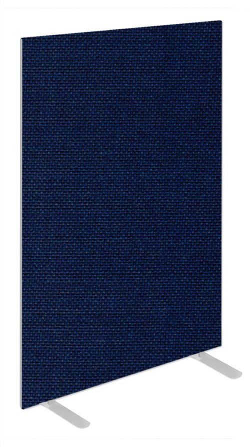 Impulse Plus Oblong 1500/800 Floor Free Standing Screen Royal Blue Fabric Light Grey Edges
