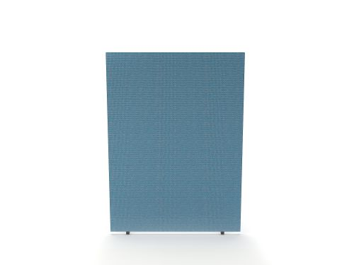 Impulse Plus Oblong 1500/800 Floor Free Standing Screen Sky Blue Fabric Light Grey Edges