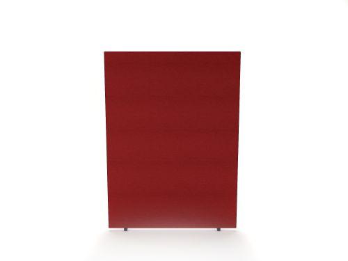 Impulse Plus Oblong 1500/1000 Floor Free Standing Screen Burgundy Fabric Light Grey Edges